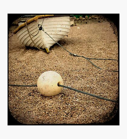 Bouy and Boat Photographic Print