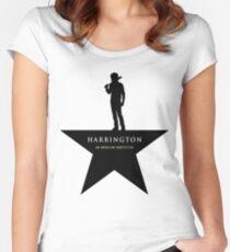 HARRINGTON: An American Babysitter (black) Women's Fitted Scoop T-Shirt