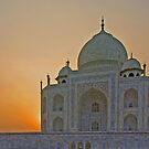 Taj Mahal at Sunset, Agra, India by Bev Pascoe