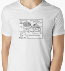 Retro Portable Tape Recorder (from the Vintage Magazine series) Men's V-Neck T-Shirt
