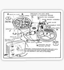 Retro Portable Tape Recorder (from the Vintage Magazine series) Sticker