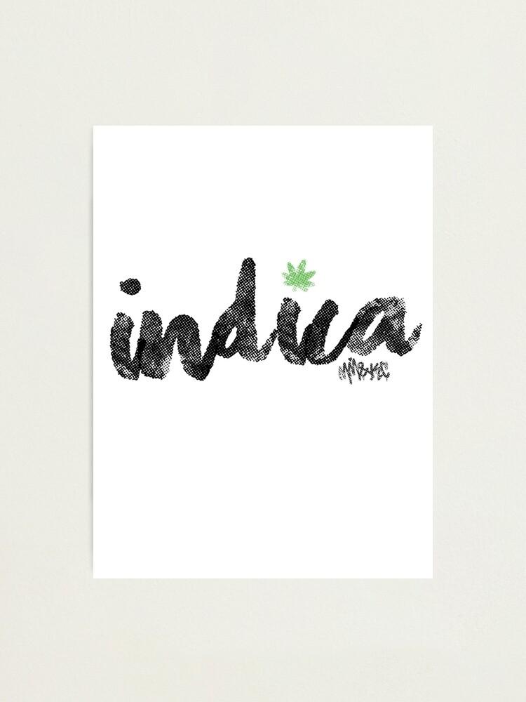 Alternate view of Indica Photographic Print