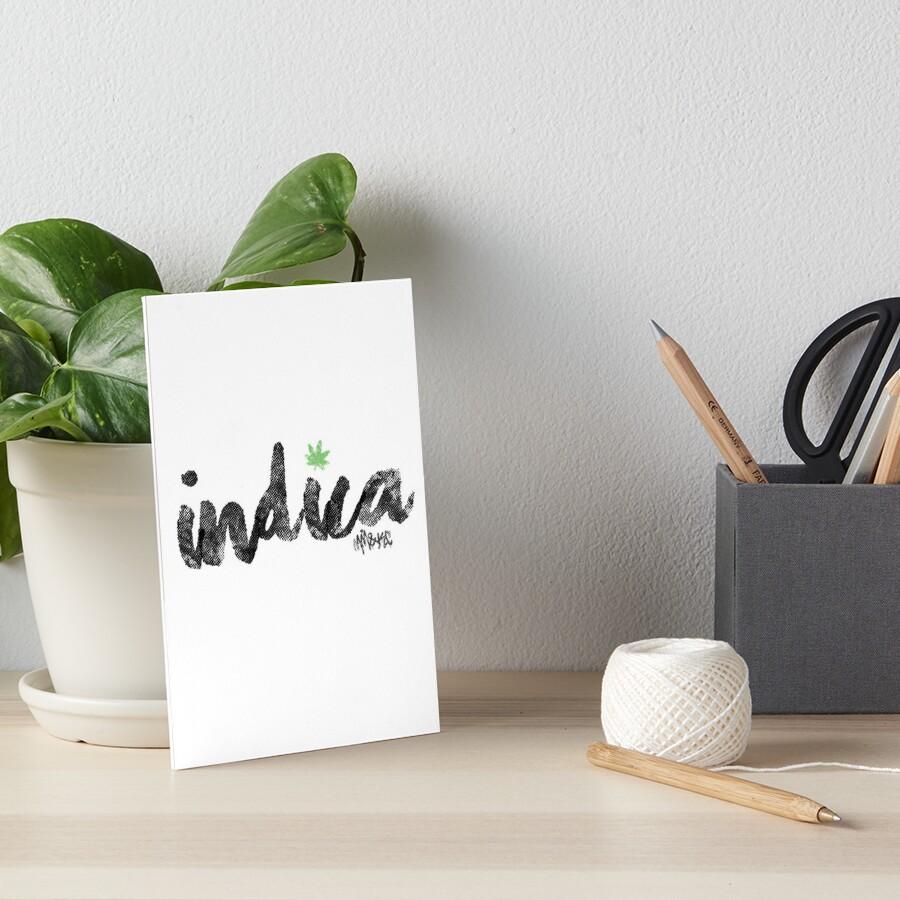 Indica Art Board Print