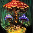 A Mushroom World by Adam Santana