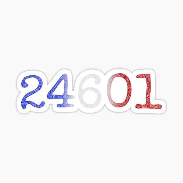 Color Zentangle 24601 (Les Misérables) Sticker