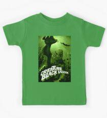 Kreatur aus der schwarzen Lagune - klassisches Monster Kinder T-Shirt