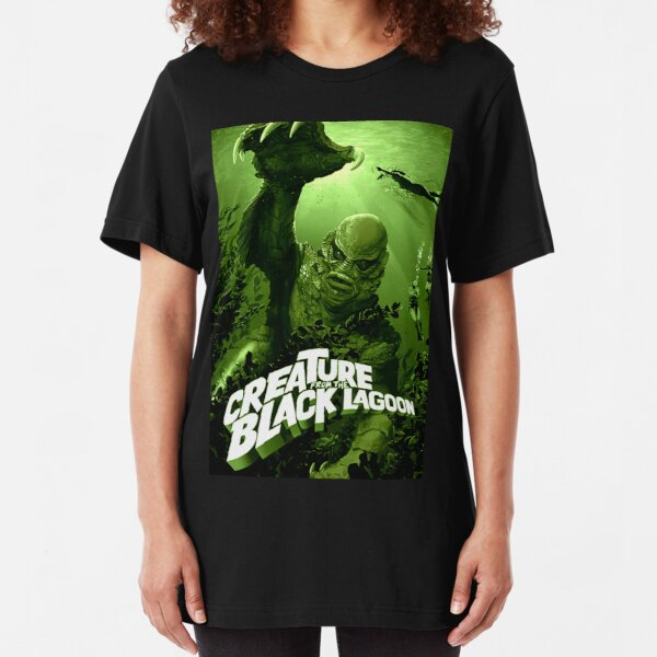 Creature From The Black Lagoon - Classic Monster Slim Fit T-Shirt