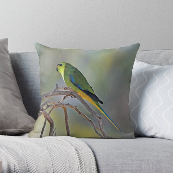 Into the light (Elegant Parrot) Throw Pillow