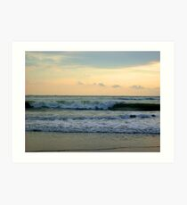 Waves hitting the Seabeach Art Print
