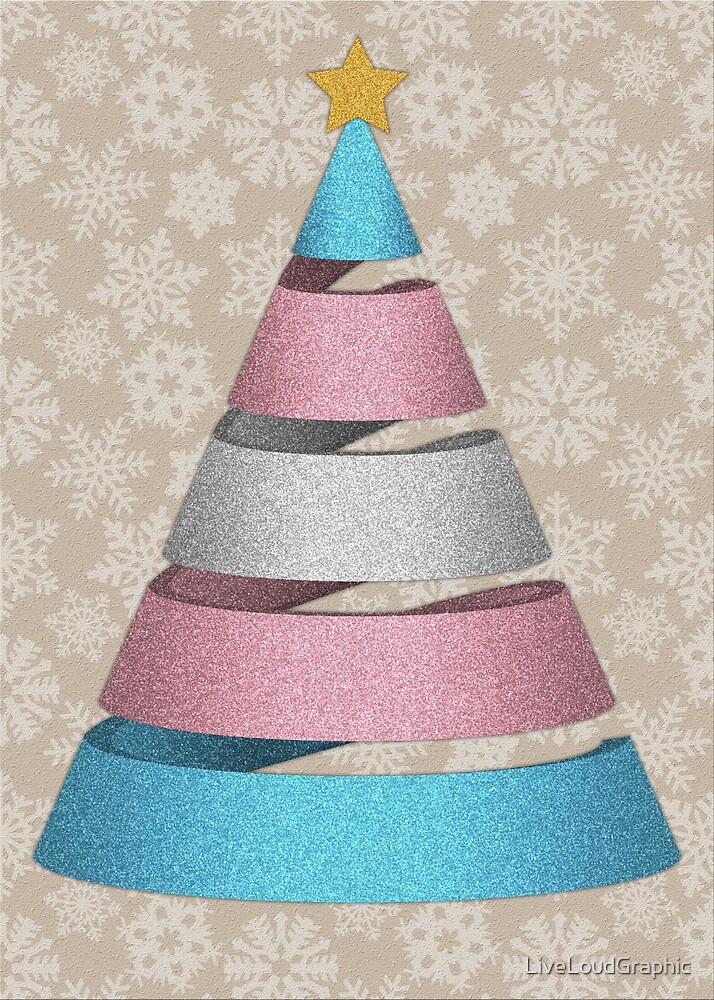 Transgender Faux Glitter Christmas Tree by LiveLoudGraphic