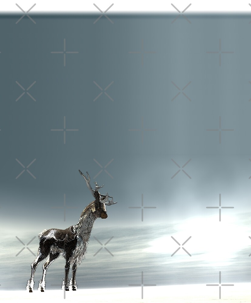 lonesome reindeer by cglightNing