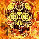 Fire Candy Skull by fantasytripp