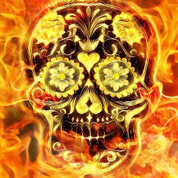 Fire Candy Skull by fantasytripp
