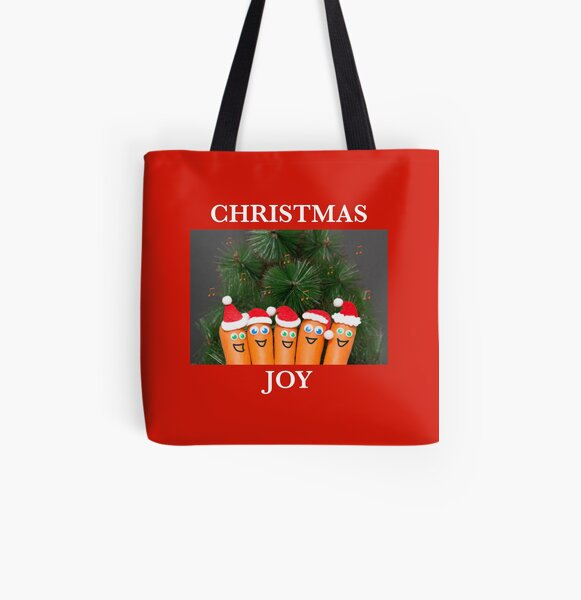 Singing Christmas carrots All Over Print Tote Bag