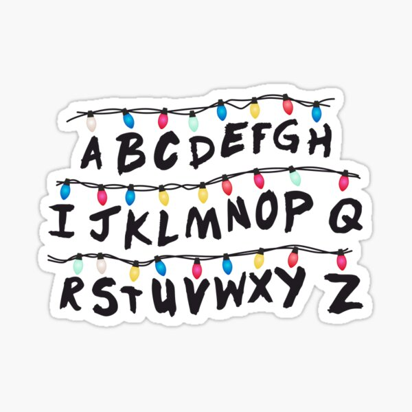 christmas lights Sticker