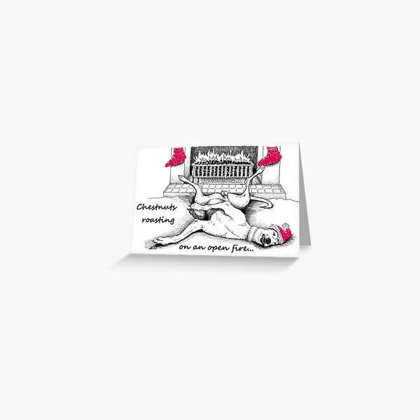 A greyhound christmas Greeting Card