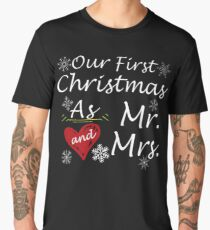 Our first christmas as mr and mrs Men's Premium T-Shirt