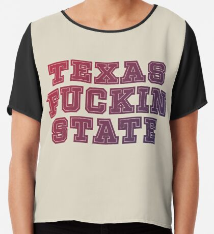 Texas Fuckin State Chiffon Top