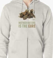 Mother Nature is the Cure Zipped Hoodie