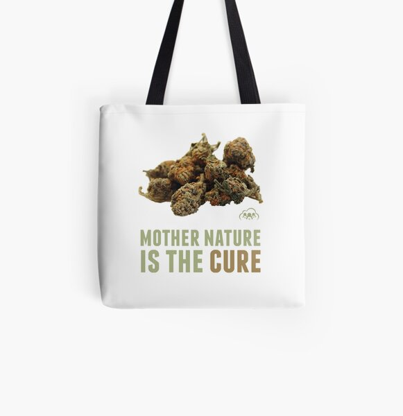Mother Nature is the Cure All Over Print Tote Bag
