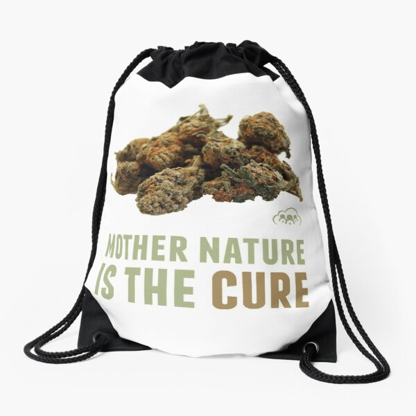 Mother Nature is the Cure Drawstring Bag