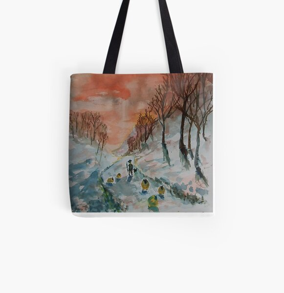 Red Sky, Shepherd's Delight All Over Print Tote Bag