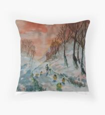 Red Sky, Shepherd's Delight Throw Pillow