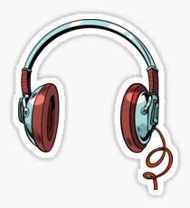 Audio headphones Sticker