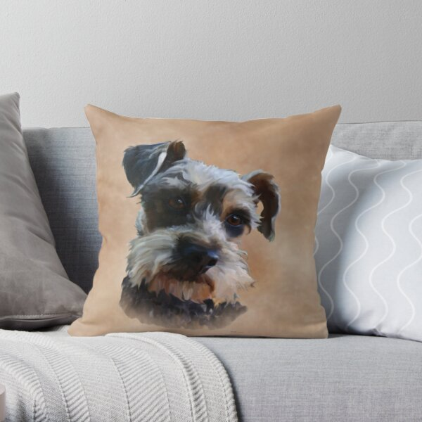 SCHNAUZER CUSHION COVER FOR SCHNAUZER FANS FAST DISPATCH UK SELLER
