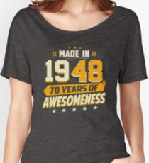 70th Birthday Vintage 70 Year Old Men Women Gifts Women's Relaxed Fit T-Shirt