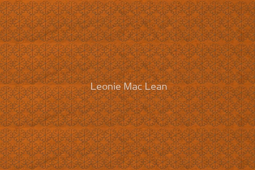 Desert Small Metal Flowers Pattern Fabric by Leonie Mac Lean