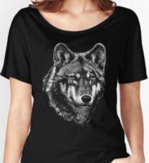 Wolf face art Women's Relaxed Fit T-Shirt