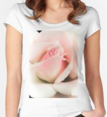 Blushing Pink  Women's Fitted Scoop T-Shirt