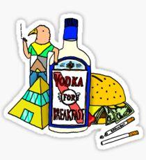 Vodka for breakfast by RADIOBOY Sticker