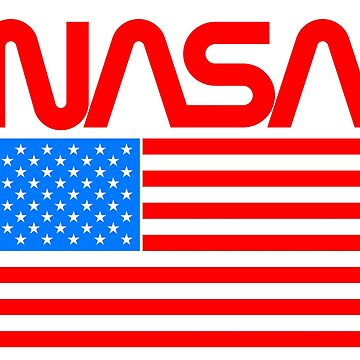 NASA Retro Logo Shirt by eddycasanta