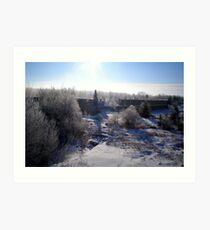 pinawa winter Art Print