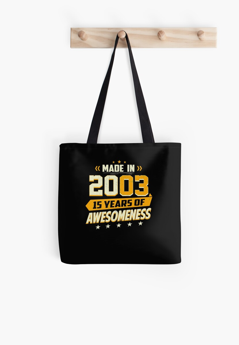 15th Birthday Gift Age 15 Year Old Boy Girl Teenager Tote Bags By