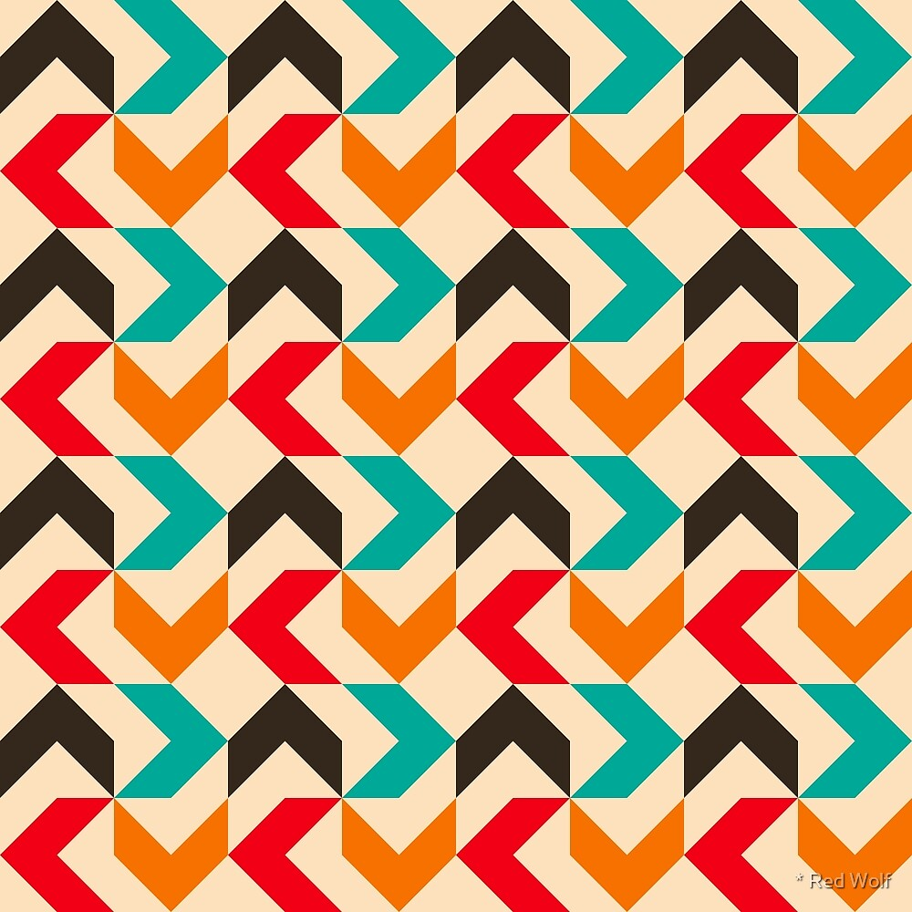 Geometric Pattern: Chevron: Summer by * Red Wolf