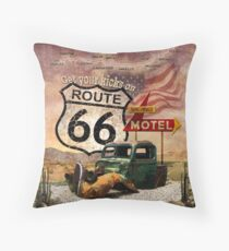 Get your Kicks on Route 66 Throw Pillow