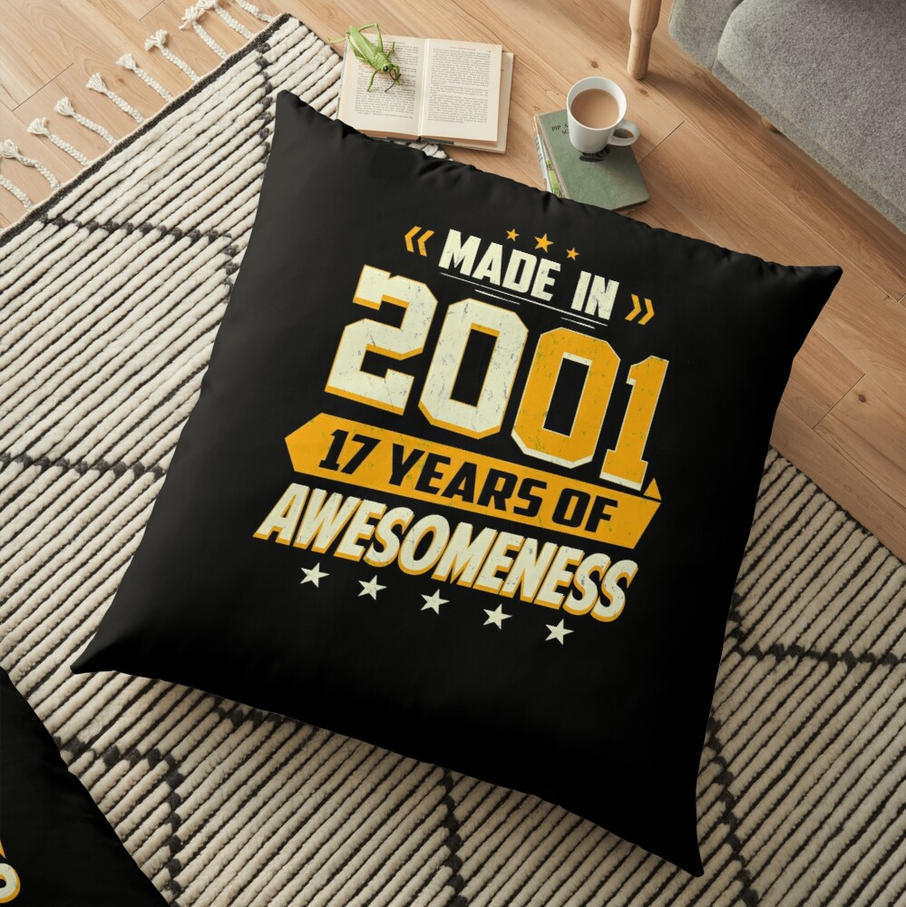 17th Birthday Gift Age 17 Year Old Boy Girl Teenager Floor Pillow