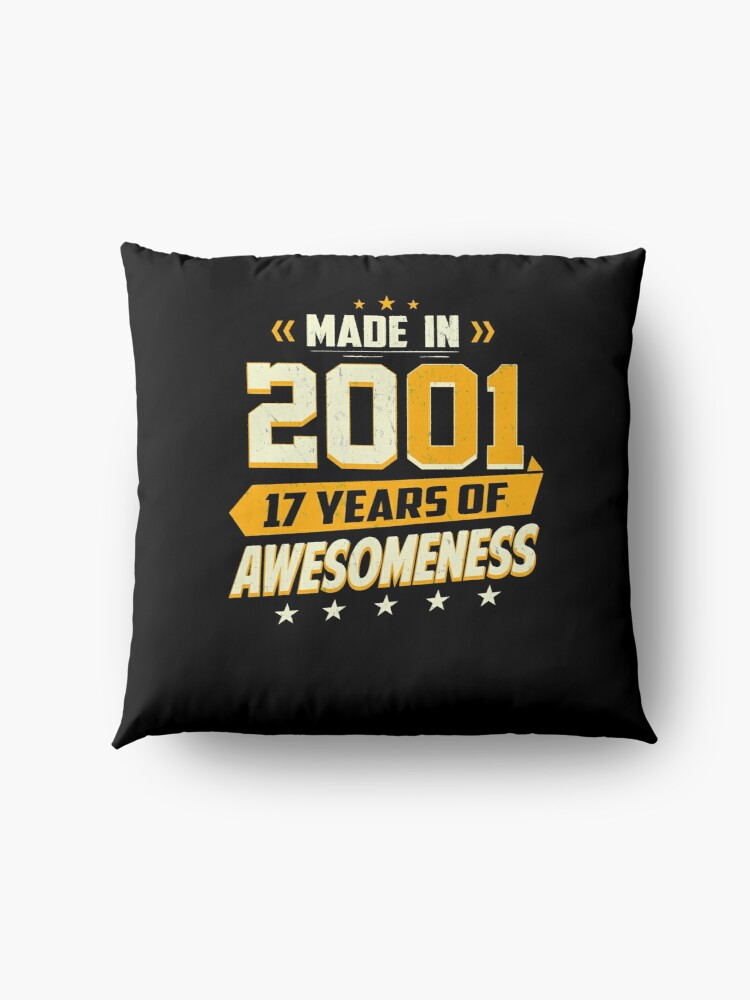 Alternate view of 17th Birthday Gift Age 17 Year Old Boy Girl Teenager Floor Pillow