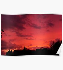 Sunset photograph Poster