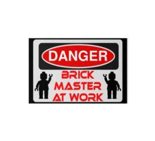 Quot Danger Brick Master At Work Sign Quot Throw Pillows By