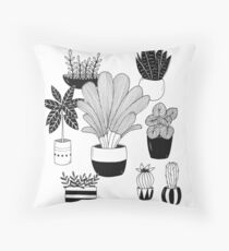Plantes Throw Pillow