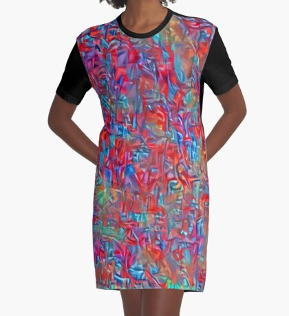 A group of birds standing on top of a sandy beach Graphic T-Shirt Dress