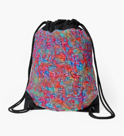 A group of birds standing on top of a sandy beach Drawstring Bag
