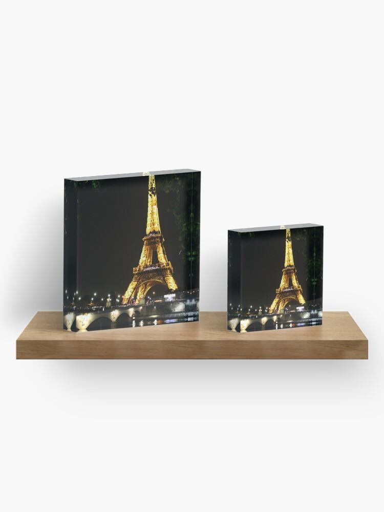 Vista alternativa de Bloque acrílico Torre Eiffel