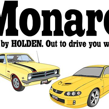 New And Old Monaro - Yellow by holdenfanpage