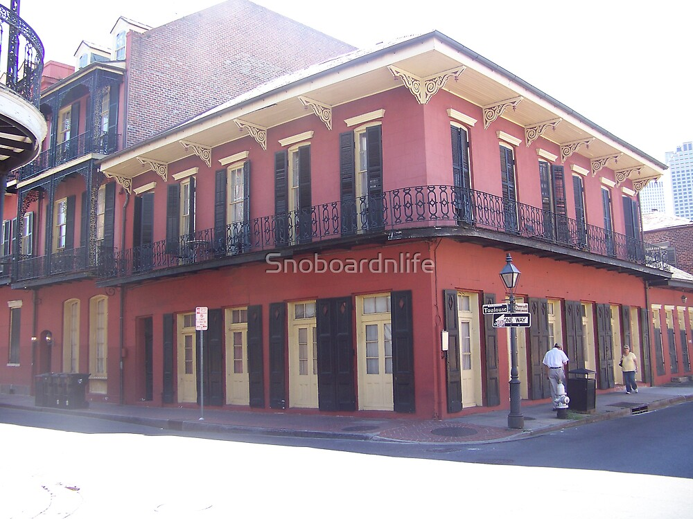 Red Building In The French Quarter by Snoboardnlife