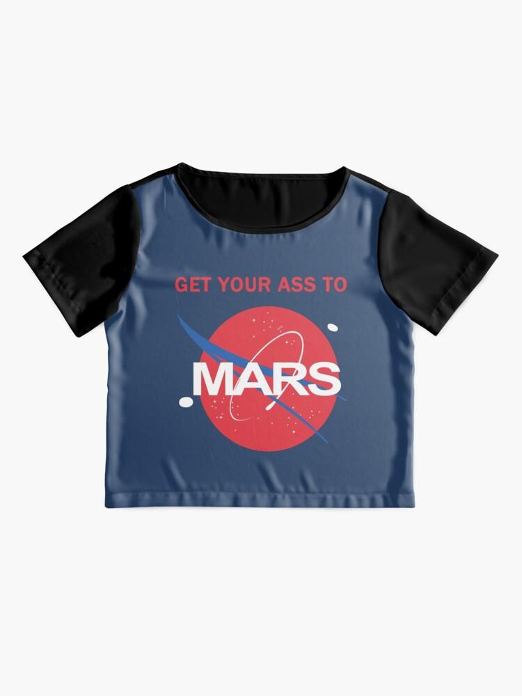 Alternative Ansicht von Bring deinen Arsch zum Mars Chiffon Top
